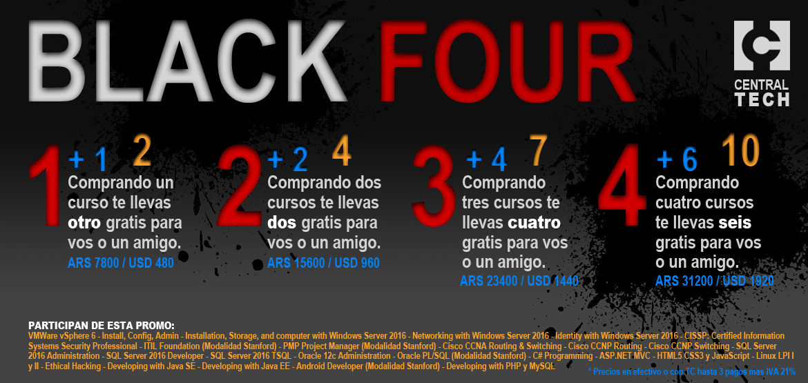BLACK FOUR: Cuatro Promos Irrepetibles!
